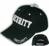 Security Guard Hat Officer Baseball Ball Cap Black Embroidered Adjustable