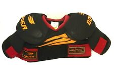 New - Bauer Spx70 Ice Hockey Shoulder Pads Black & Red ~ Size Mens Small