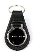 Triumph Toledo 1300 Logo Quality Black Leather Keyring