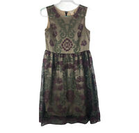 Sundance Women's Size Floral Lace Embroidered Sleeveless Dress FLAW