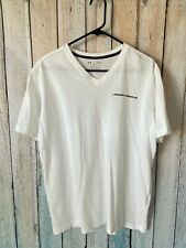 Under Armour cotton V neck white shirt very thin Large -Used-