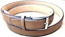 $85 TASSO ELBA Men BROWN FAUX LEATHER CASUAL SILVER-BUCKLE DRESS BELT SIZE 34