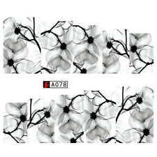 Nail Art Water Transfer Decal Manicure Sticker Ink Flowers Pattern DIY Tattoo