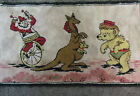 Vintage Circus Clown Bear Kangaroo Rug 40 X 22 Clean And In Good Condition