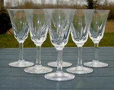 Saint Louis - Service de 6 verres à vin rouge en cristal taillé, modèle Cerdagne