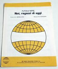 Partition sheet music SALVATORE CUTUGNO : Noi, Ragazzi Di Oggi * 80's TOTO