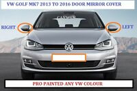 VW GOLF MK7 REPLACEMENT WING MIRROR COVERS 2013-2018 (NEW) ANY VW COLOUR PAIR