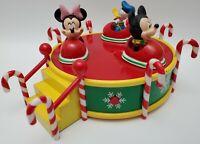 Gemmy Disney Musical Spinning Bumper Cars Christmas Mickey Minnie Donald HTF