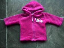 Baby Girl's Minnie Mouse Pink Coral Fleece Hoodie/Hooded Jacket Size 00 VGUC