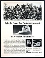 1964 Green Bay Packers Team Shaving photo Norelco Speed Shaver vintage print ad
