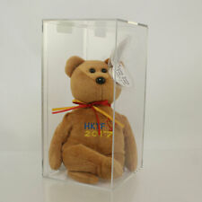 Authenticated TY Beanie Baby - HONG KONG Bear (BROWN - 2017 Toy Fair Exclusive)