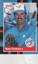 FREE SHIPPING-MINT-1988 Donruss Toronto Blue Jays Baseball Cd #121 Mark Eichhorn