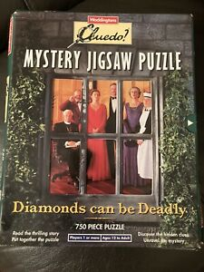 Waddington's Cluedo Mystery Jigsaw Puzzle - 1994 Diamonds Can Be Deadly - New!