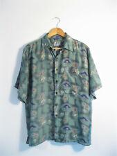 SILK TRADERS | Mens Retro VINTAGE Lightweight 100% Silk Relaxed Hawaiian Shirt S