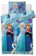 New Disney Frozen 2 Single Duvet Quilt Cover Set Girls Blue Bed Bedroom Gift