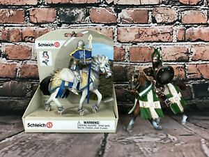 Schleich Action Figures 2 Knights w/ Horses 70109 & 70047