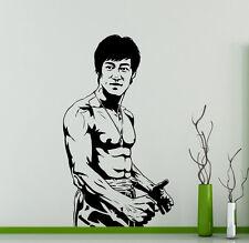 Bruce Lee Wall Vinyl Decal Film Actor Vinyl Sticker Martial Artist Home Decor 16