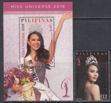 Philippines  2015 Miss Universe Beauty Peagent  Miniature sheet + Stamp Unique