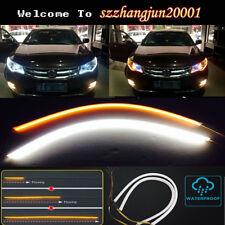 60cm Car LED Strip Lamp DRL Daytime Running Light Flexible Car Soft Tube Guide