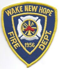 **WAKE NEW HOPE NORTH CAROLINA FIRE DEPARTMENT FIRE PATCH**