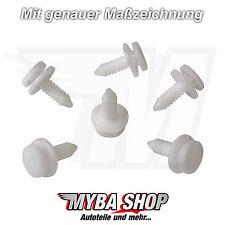 20x Grapa de Revestimiento interior Soportes montaje CLIPS AUDI VW en blanco