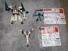 2004 Transformers Lot: Cybertron Voyager Vector, Threadshot, Storm Jet, Hasbro