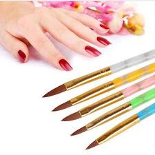 PROFESSIONAL KOLINSKY ACRYLIC NAIL BRUSH Round 5 sizes Set Kit Manicure Powder