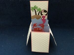Handmade card Happy Birthday/ Personalised MERMAID pop up design