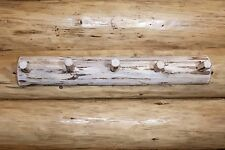 Wall Mounted Coat Rack LOG Racks 3 ft Long Amish Made Lodge Cabin Furniture