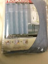 hoockless dusty blue embroidered shower curtain RBH32MY131