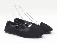 Primark Womens UK Size 6 Black Suede Dolly Shoes