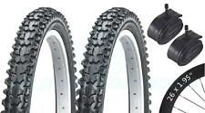 2 Bicycle Tyres Bicicleta Tires - Mountain - 26 x 1.95 VC-2004 - Schrader Tubes