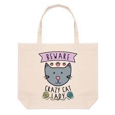 Méfiez-vous Crazy Cat Lady Grand Plage SAC FOURRE-TOUT - Drôle animal chaton