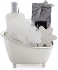 BRUBAKER Cosmetics Coffret de bain 'Vanilla' avec Baignoire d' Argenté 5-Pieces