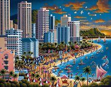 Jigsaw puzzle Explore America Waikiki Beach Honolulu Hawaii 500 piece NEW USA