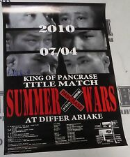 Isao Kobayashi Signed Pancrase MMA Passion Tour 6 Official Event Poster 7/4 2010