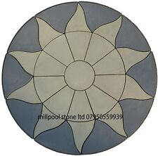 Paving Sun Circle Slabs stones garden patio flags (1.8m) ( DELIVERY  EXCEPTIONS)