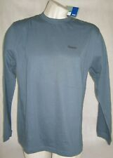 Nwt Men'S Reebok Cotton Long Sleeve Shirt Paynes Gray