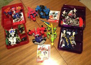 Transformers Construct Bots Lot Of 6- Optimus Prime, Megatron,Soundwave, & More