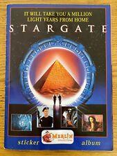 STARGATE   1994 Merlin Sticker Album 156/180 complete + Extra Stickers. VGC