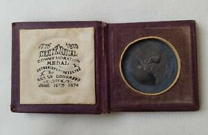 1876 U.S. Centennial Exposition Commem. Medal TONED SILVER 1 of 10,133 Minted!