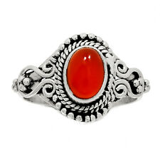 Carnelian 925 Sterling Silver Ring Jewelry s.6 SSS CRNR893