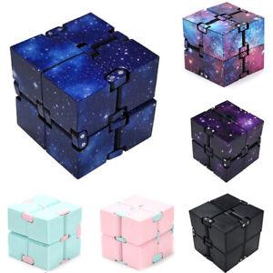 Plastic Infinity Cube Puzzle Magic Flip Autism ADHD Sensory Stress Relief Toy