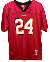 REEBOK TAMPA BAY BUCCANEERS Cadillac Williams #24 Jersey Youth  XL 18 20 NFL 🏈