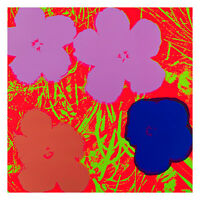 Flowers 1964 5 by Andy Warhol 54cm x 54cm High Quality Art Print
