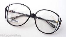 Vintagebrille Luxusgestell Silhouette SPX XXL Form Boho schwarz-weiß oversized