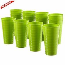 Splash 20-ounce Unbreakable Plastic Tumblers | set of 12 Lime