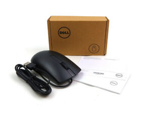 LOT OF 10 GENUINE DELL MS116P BLACK USB OPTICAL LASER WIRED SCROLL MOUSE MG46T