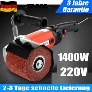 220V Satiniermaschine Polierer Schleifmaschine Bürstenschleifer Polieren 1400W