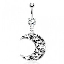 crescent moon Piercing navel